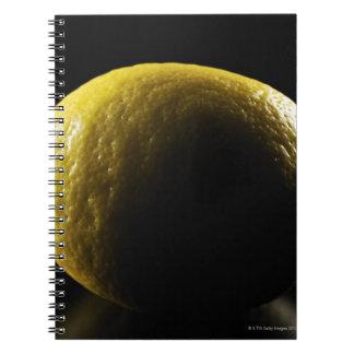 Lemon,Fruit,Black background Notebook
