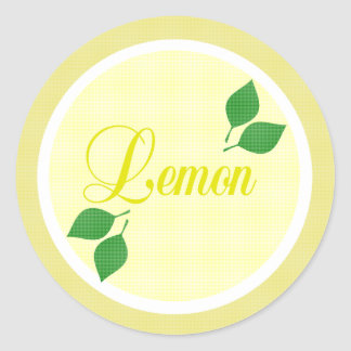 Lemon Fruit Label Sticker