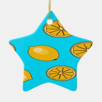 Lemon fruit pattern christmas ornament