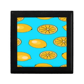 Lemon fruit pattern gift box