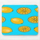 Lemon fruit pattern mouse mat