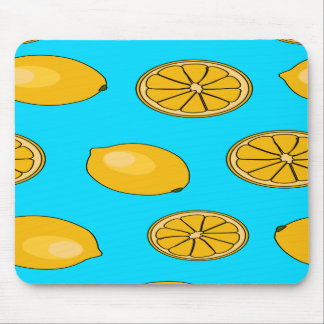 Lemon fruit pattern mouse mat