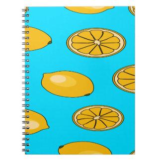 Lemon fruit pattern notebooks
