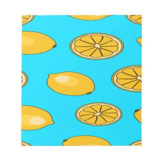 Lemon fruit pattern notepad