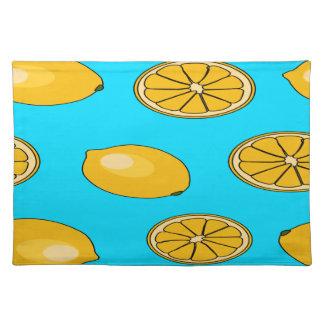 Lemon fruit pattern placemat