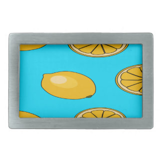 Lemon fruit pattern rectangular belt buckles