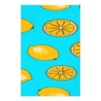 Lemon fruit pattern stationery