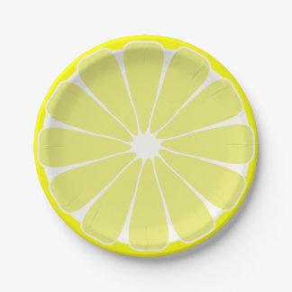 Lemon Fruit Slice Party Picnic Paper Plates 7 Inch Paper Plate