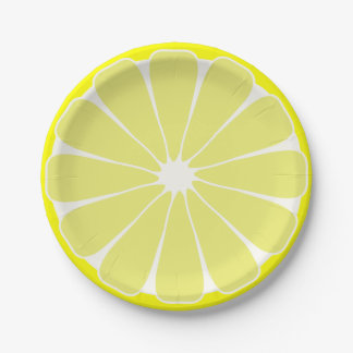 Lemon Fruit Summer Party Picnic Paper Plates