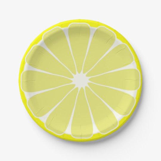 Lemon Fruit Summer Party Picnic Paper Plates