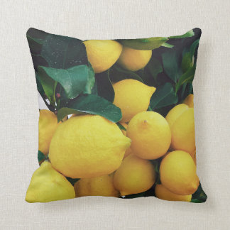 Lemon fruit tree cushion