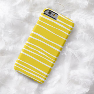 Lemon Funky Stripe Pattern iPhone 6 case Barely There iPhone 6 Case