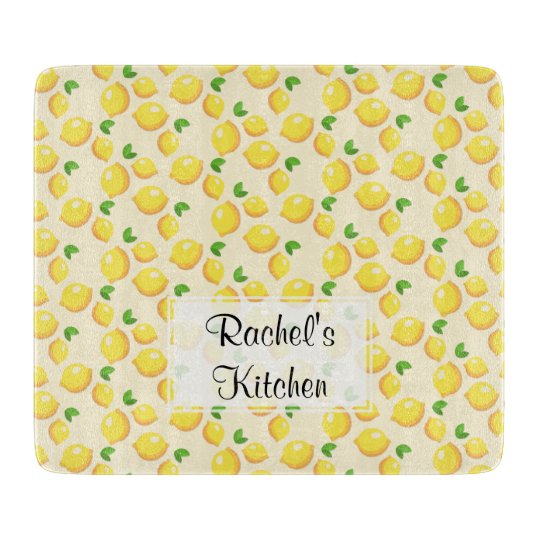 Lemon Glass Cutting Board - Customisable