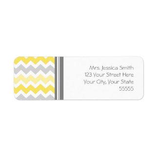 Lemon Gray Chevrons Custom Return Address Labels