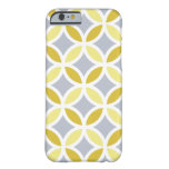 Lemon Grey and White Entwined Pattern Barely There iPhone 6 Case