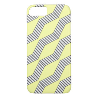 Lemon & Grey Chevron iPhone 7 Case