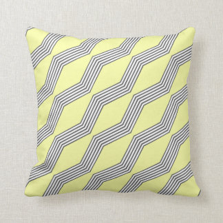 Lemon & Grey Chevron Throw Cushion