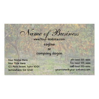 Lemon Grove in Bordighera by Claude Monet Business Card