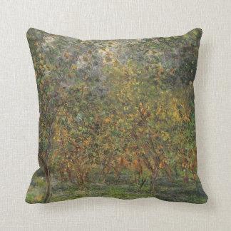 Lemon Grove in Bordighera by Claude Monet Cushion