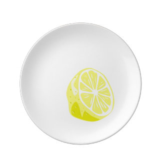 Lemon Half Porcelain Plate