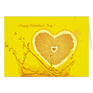 Lemon Heart Velentine's Day Greeting Card