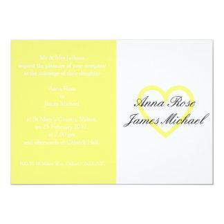 Lemon Heart Wedding Invitation