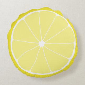 Lemon Home Decor, Meyer Lemon Pillow, Lemon Art Round Cushion
