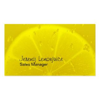 Lemon juice business card template