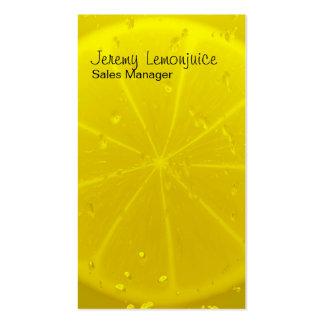 Lemon juice business card templates