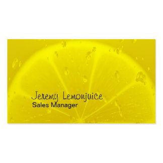 Lemon juice pack of standard business cards