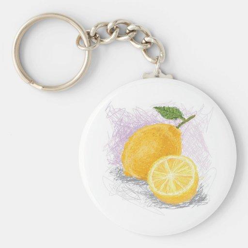 lemon keychain