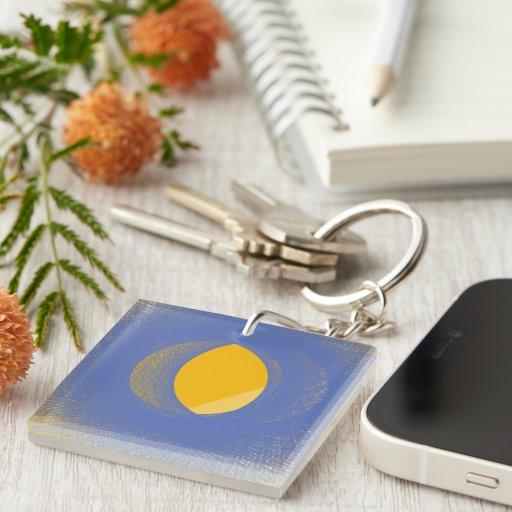 Lemon Acrylic Key Chain