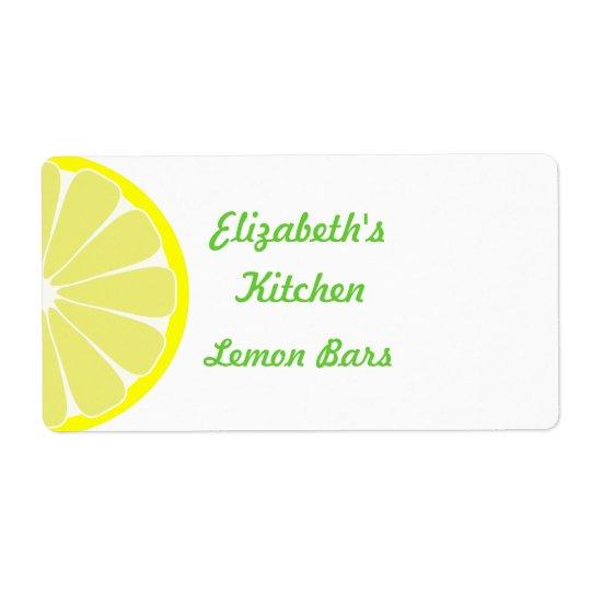 Lemon Kitchen Labels