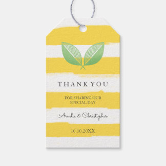 Lemon Leaves Yellow & Green   Wedding Thank You