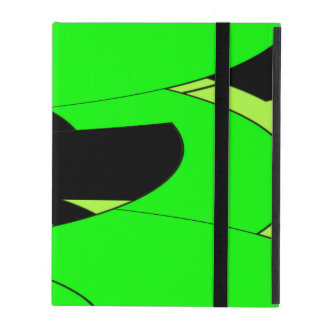 Lemon Lime Abstract Art iPad Cover