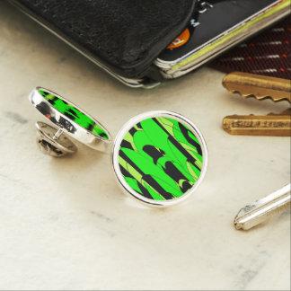 Lemon Lime Abstract Art Lapel Pin