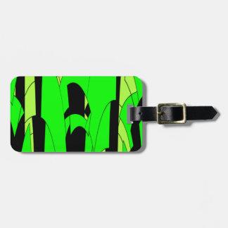 Lemon Lime Abstract Art Luggage Tag