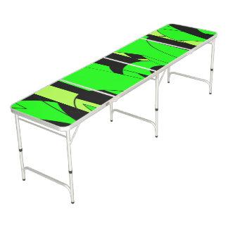 Lemon Lime Abstract Art Pong Table