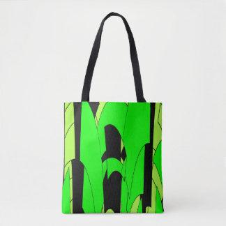 Lemon Lime Abstract Art Tote Bag
