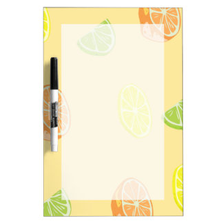Lemon Lime and Orange Citrus Kitchen Dry Erase Board
