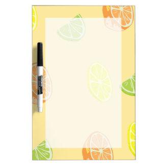 Lemon Lime and Orange Citrus Kitchen Dry Erase Boards