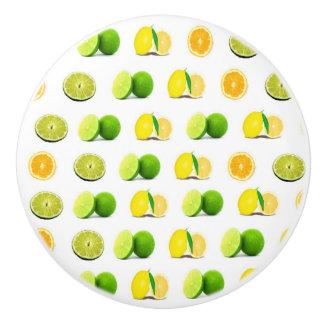 Lemon, Lime and Orange Slice Kitchen Cabinet Knob