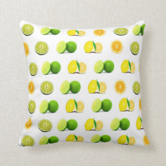 Lemon, Lime and Oranges Home Decor Throw Pillow