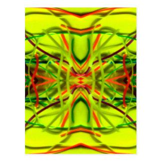 Lemon Lime Bending Lines By BethofArt Postcard