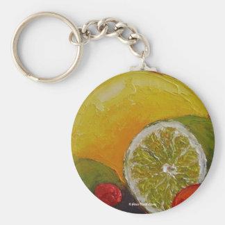 Lemon Lime Cherry Keychain