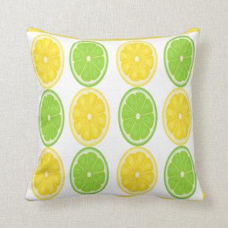Lemon Lime Citrus Pattern Pillow