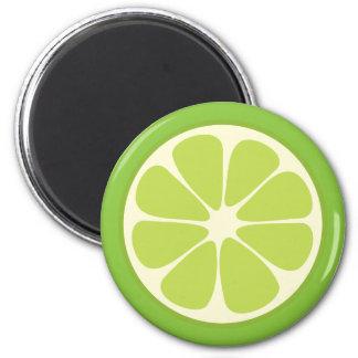 Lemon Lime Green Juicy Citrus Fruit Slice Kitchen Magnet