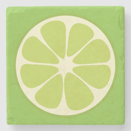 Lemon Lime Green Juicy Summer Citrus Fruit Slice