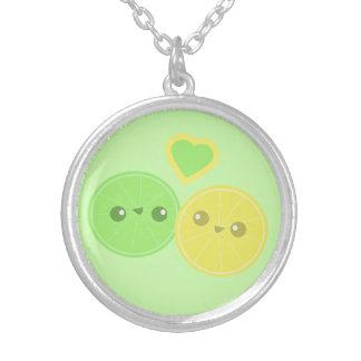 Lemon Lime Heart Kawaii necklace
