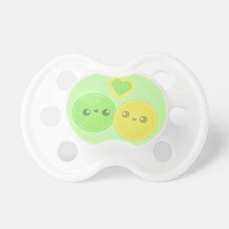 Lemon Lime Heart Kawaii pacifier